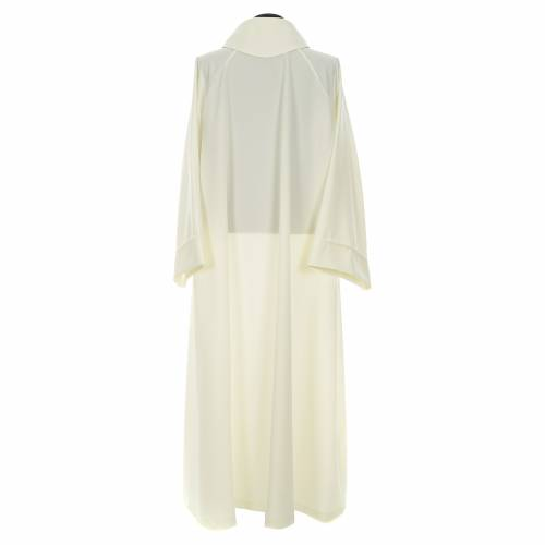 Liturgical flared alb in ivory polyester s2