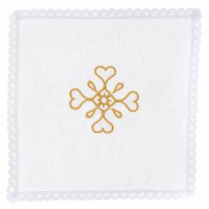 Altar linens: Liturgical set with cross symbol in pure cotton