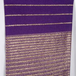 Liturgical stole in wool with golden stripes s6