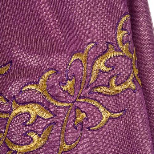 Liturgical vestment in lurex with stylized gold motifs s6