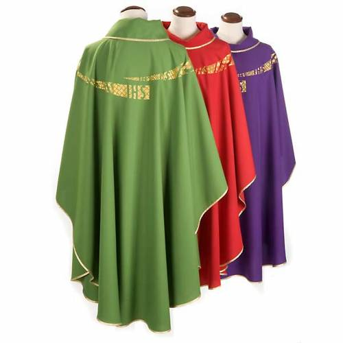 Liturgical vestment with IHS symbol embroidered s2