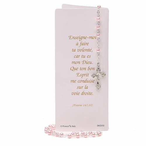 Livret souvenir Confirmation Français chapelet rose s5