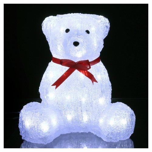 Luce natalizia orso 40 Led interno esterno h. 27 cm s2