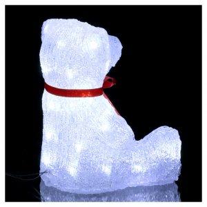 Luce natalizia orso 40 Led interno esterno h. 27 cm s4