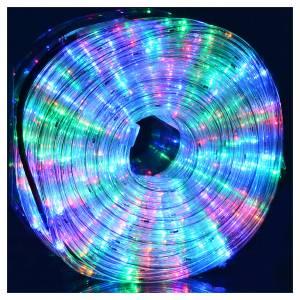 Luce natalizia tubo led 34 metri multicolor per esterno s2