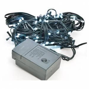 Luces de Navidad: Luces de Navidad, 120 mini LED blanco hielo para exterior