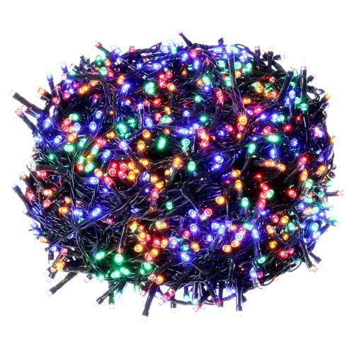 Luci Natalizie 1500 LED  multicolor programmabile ESTERNO INTERNO corrente s1