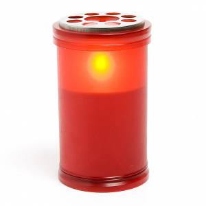 Lumino  LED rosso a pile s1