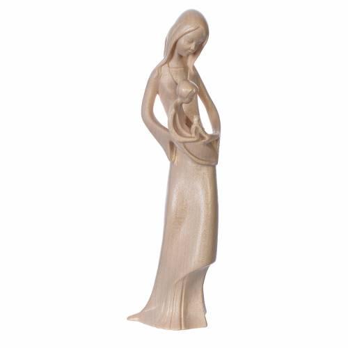 Madonna bimbo colomba legno Valgardena legno naturale cerato s1