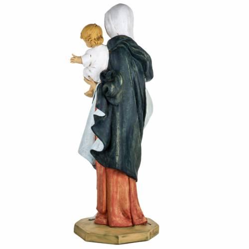 Madonna con bambino 100 cm resina Fontanini s6