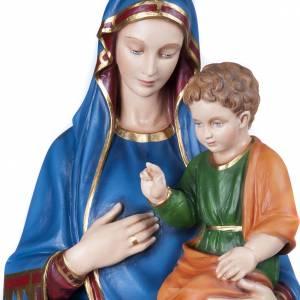 Madonna Consolata 130 cm marmo sintetico colorato s2