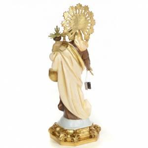 Statue in legno dipinto: Madonna del Carmelo 50 cm pasta di legno dec. speciale