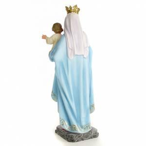 Statue in legno dipinto: Madonna del Rosario 60 cm pasta di legno dec. elegante