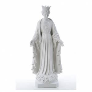 Statue in polvere di marmo di Carrara: Madonna della purezza marmo sintetico 70 cm