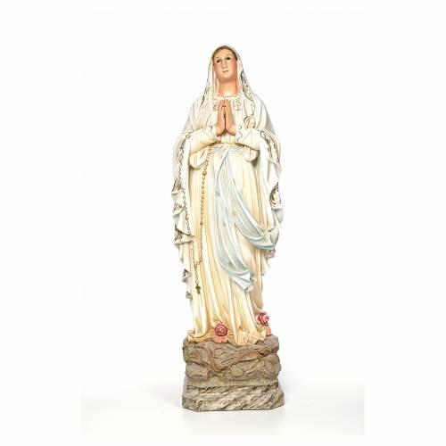 Madonna di Lourdes 100 cm dec. elegante s1