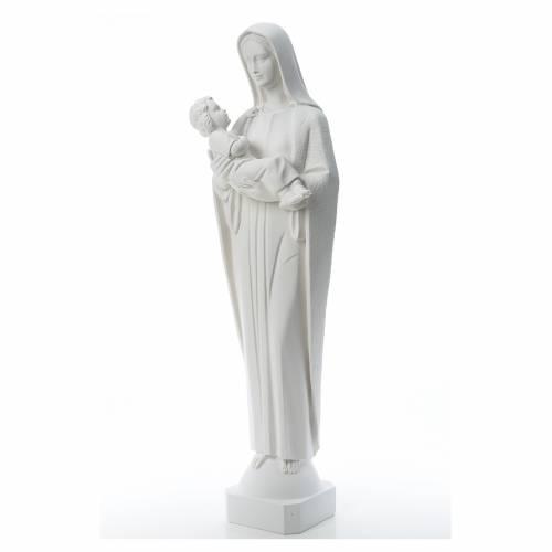 Madonna e bambino 115 cm marmo ricostituito s2