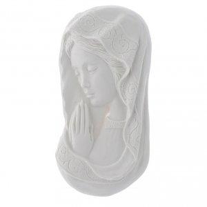 Madonna mani giunte 11 cm rilievo marmo s1