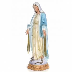 Statue in legno dipinto: Madonna Miracolosa 80 cm pasta di legno dec. elegante