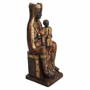 Stone statues: Madonna of Solsona in golden stone, Bethléem 54cm