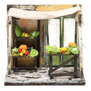 Magasin vendeur de légumes en cire crèche 18x20x14 cm s1