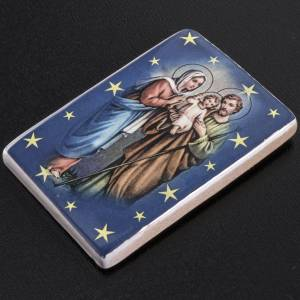 Magnet in ceramic with Holy Family standing s2