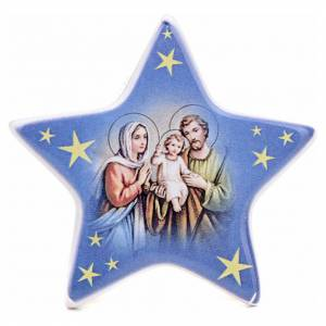 Magnet in ceramic with Nativity, Holy Family s1