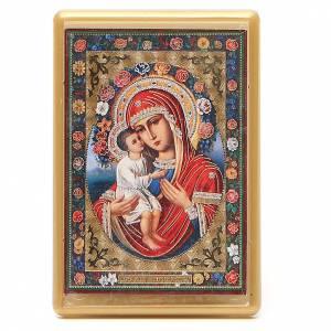 Magnet Virgin Mary Jirovitskaya in plexiglass, 10x7cm s1