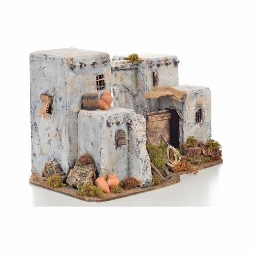 Maison arabe en miniature 33x22x21,5 cm crèche Napolitaine s2