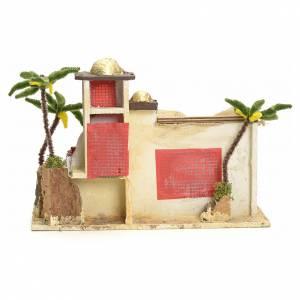Maison arabe en miniature stucquée avec tente 30x43x18 s4