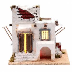 Crèche Napolitaine: Maison arabe portes et fenêtres 28,3x30x25,2 cm crèche de Naples
