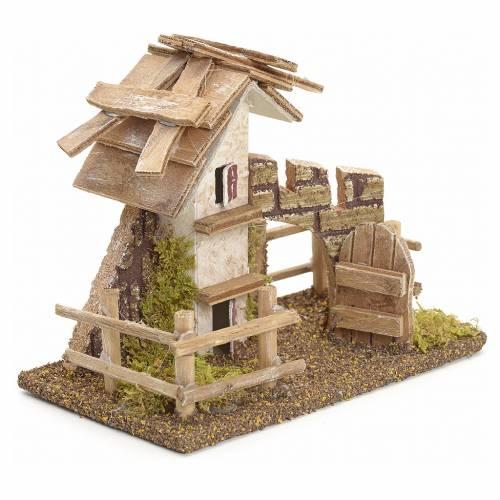 Maison de campagne en miniature avec palissade 11x13x6 s2