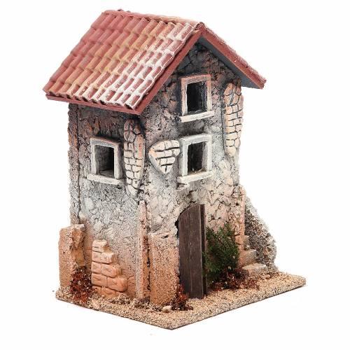 Maison en liège 21x15x12 cm crèche s3