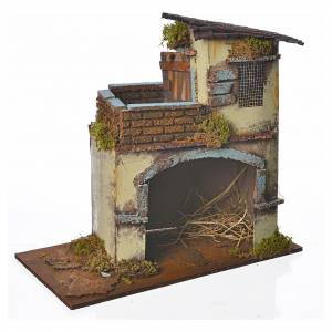 Maison jaune avec balcon 28x15x27 cm s3