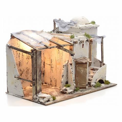 Maison Palestinienne illuminée crèche Napolitaine 10 cm s2