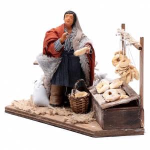 Man making taralli, animated Neapolitan Nativity figurine 12cm s2