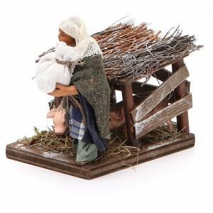 Man with pig pen, Neapolitan nativity figurine 10cm s2
