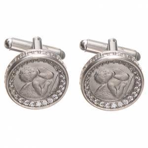 Manschettenknöpfe: Manschettenknöpfe Silber 800 Engel von Raffaello 1,7cm