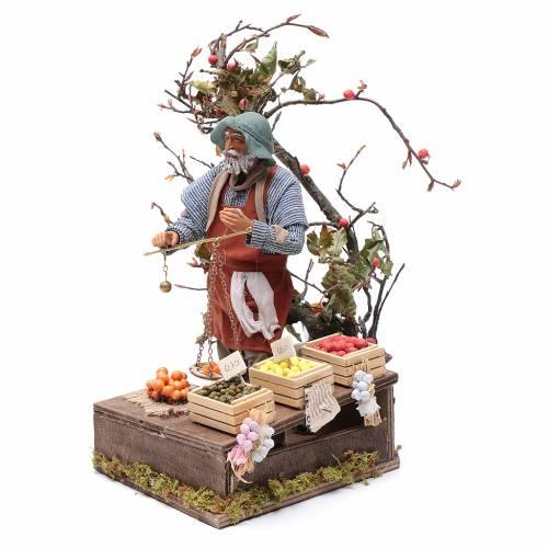 Marchand de fruits avec balance 24 cm animation crèche Naples s2