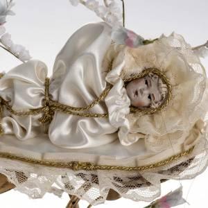 Maria bambina statua terracotta cm 18 campana di vetro 35X25 s3