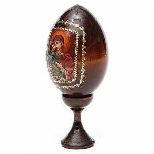 Handgemalte Russische Eier: Ei- Ikone Maria mit Kind rote Basis