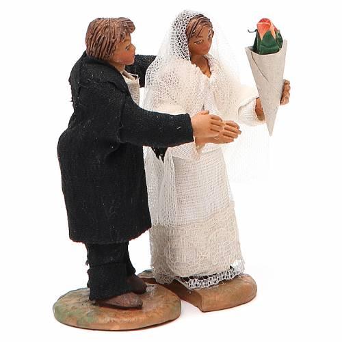 Married couple, Neapolitan nativity figurine 10cm s2
