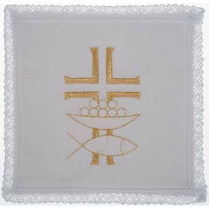 Altar linens: Mass linen set 4 pcs. loaves and fishes