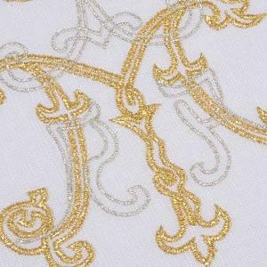 Mass linen set 4 pcs. Marian symbol gold silver s4