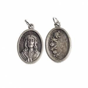 Medaglie: Medaglia Ecce Homo ovale galvanica argento antico