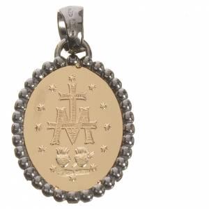 Medaglia Miracolosa oro 750/00 bordo scuro - gr. 2,74 s2