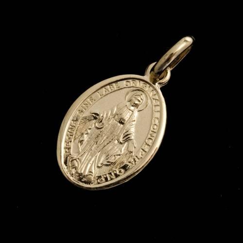 Medaglia Miracolosa oro 750 s2