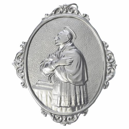 Medaglione confraternita San Carlo Borromeo ottone s1