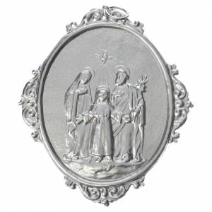 Medaglioni per confraternite: Medaglione Confraternite Sacra Famiglia ottone