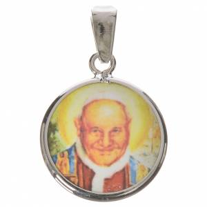 Médaille ronde argent 18mm Jean XXIII s1