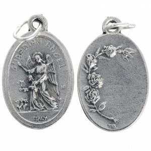 Medaillen: Medaille Schutzengel oval oxidiertes Metall 20 mm